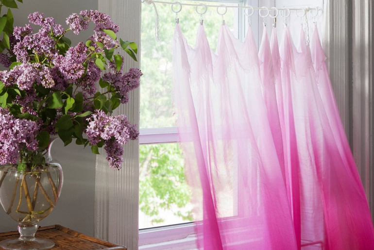 Rope-How to Hang Curtains Without a Rod